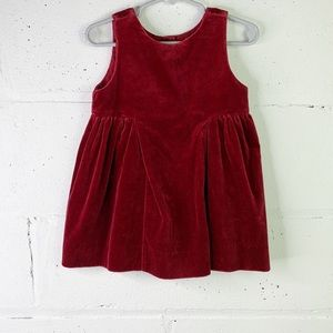 Baby Gap little girl Velvet dress